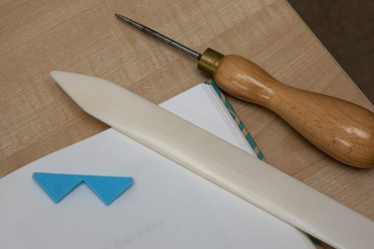 Baile Mor Bookbinding workshop - bookbinding tools