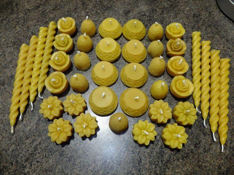 Beeswax candles - Sheila Barnard - Tobermory Honey