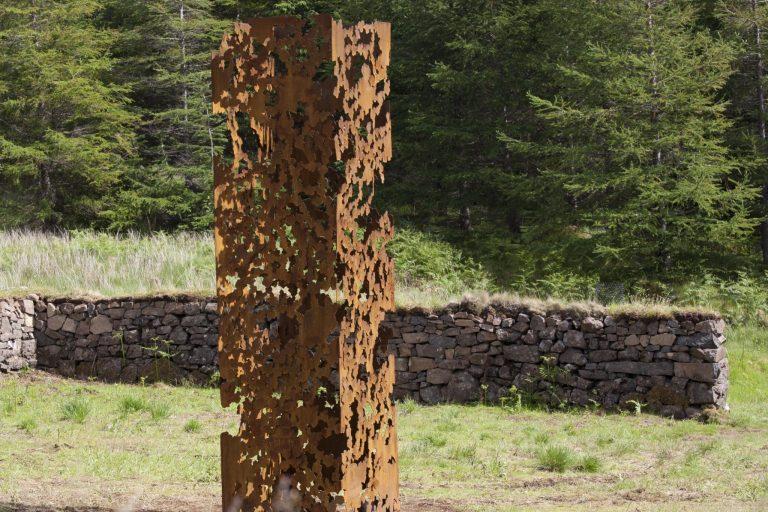 Andrea Geile- The Chlorophylls- Corten- steel- sculpture - Sarah Darling photo