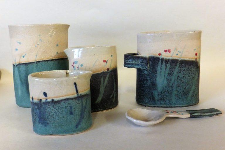 Julie Ward Ceramics Shoreline jugs and vessels