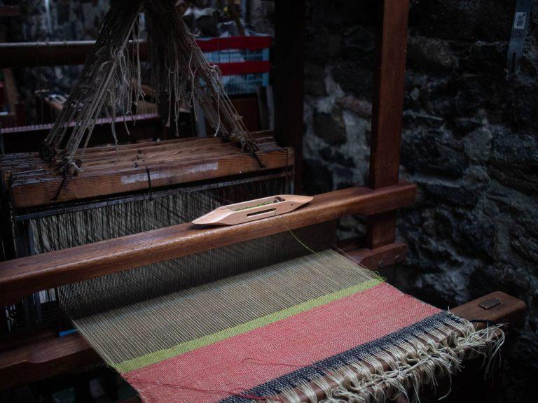 MONICA HADDOCK cloth on dobby loom