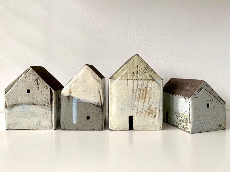 Set of four houses - Rowena Brown