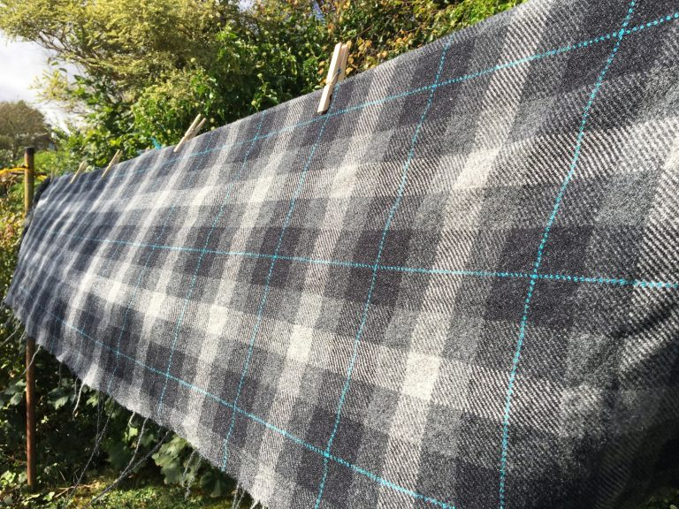 Sarah's Weaving Shed - Drying Material