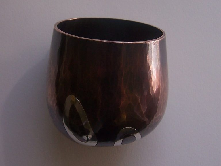 Tumbler - copper with silver inlay
