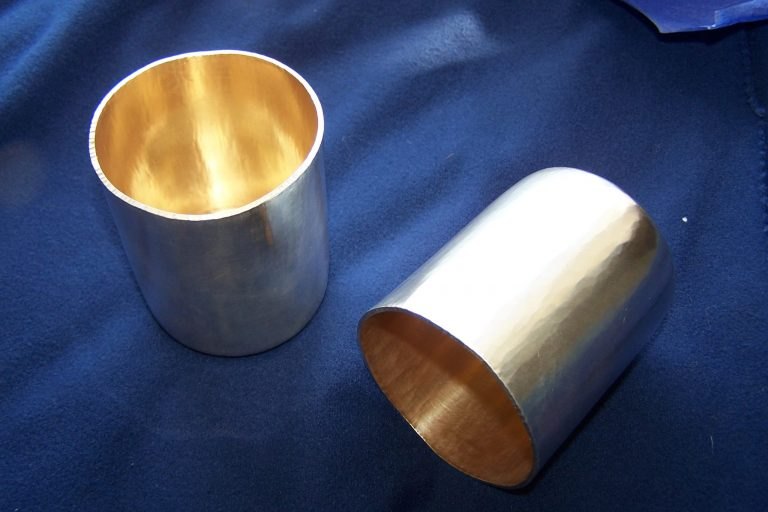 Wine goblets, silver and gilding- Silversmithing Workshop